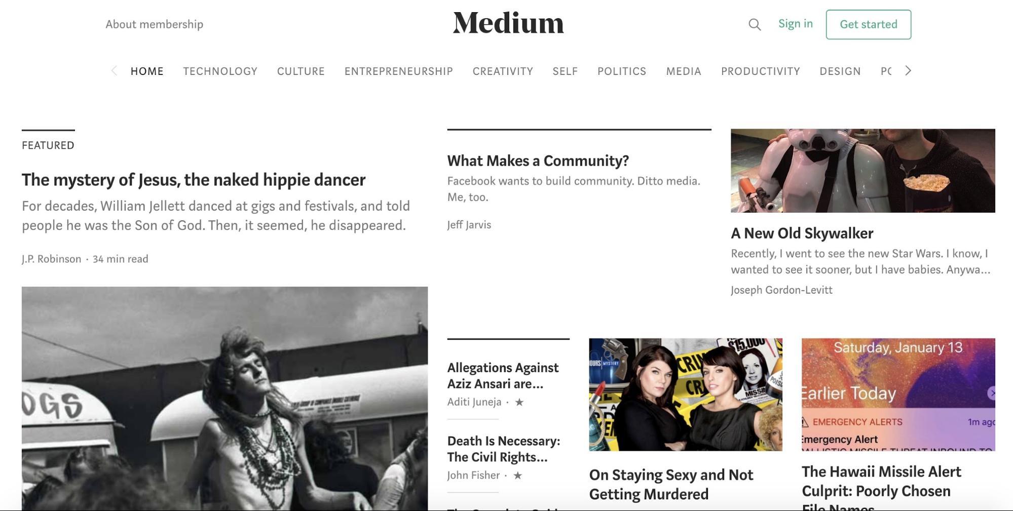 Medium Blogging Platform