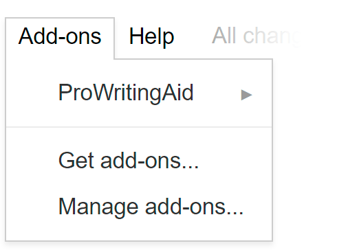 ProWritingAid Google Docs Add on