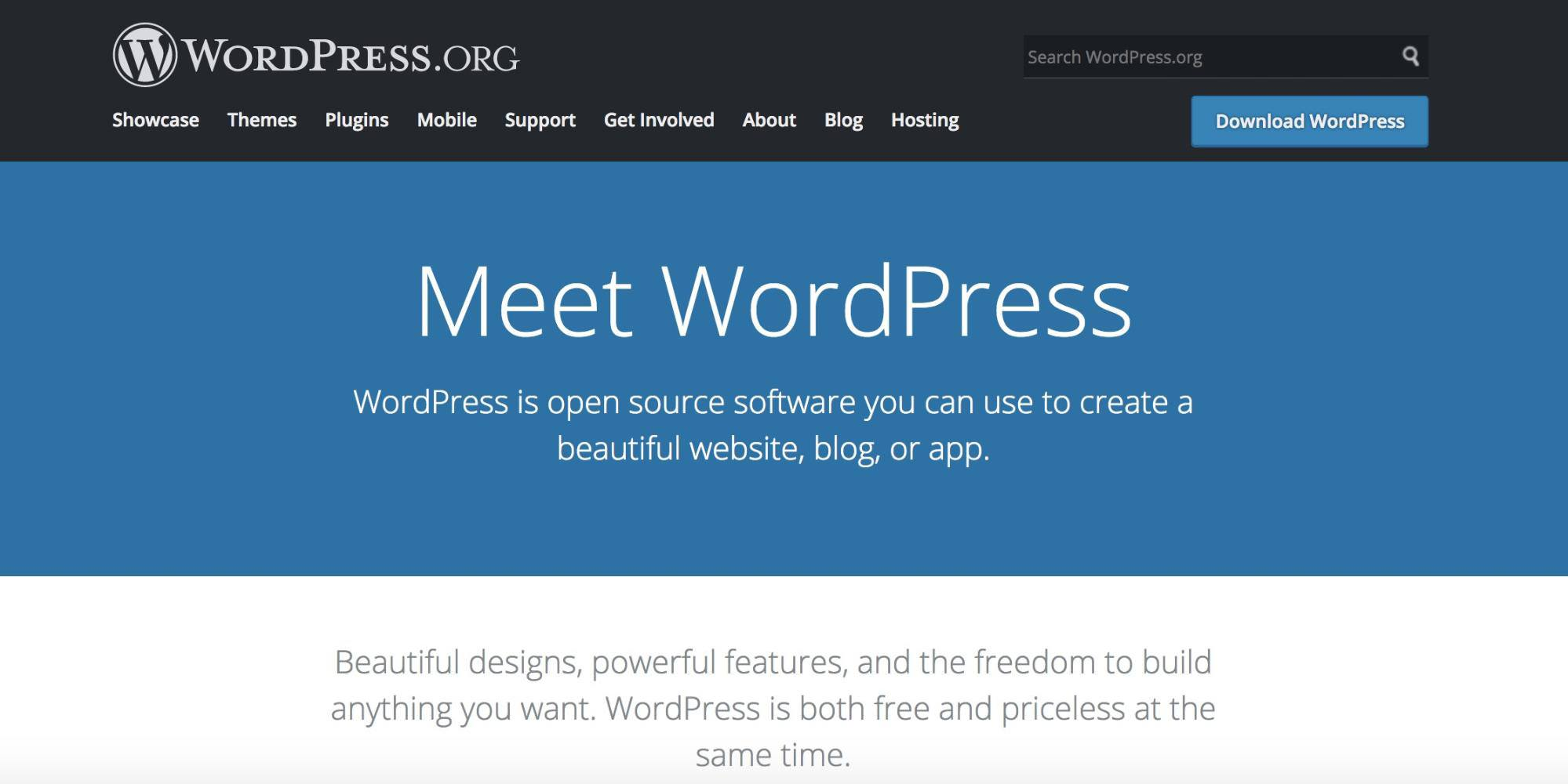 WordPress.org Self Hosted Blogging Platform