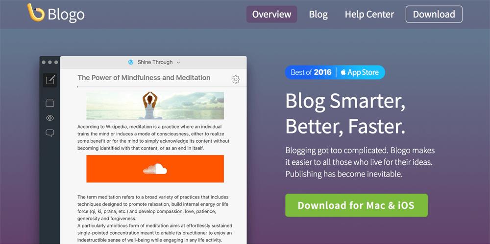 Blogo Blog Editor App Tool