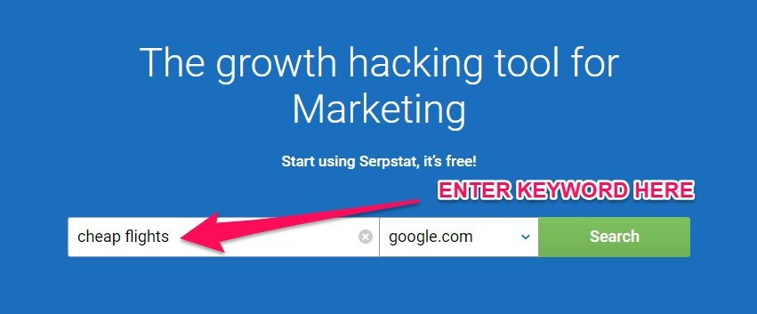 serpstat keyword research