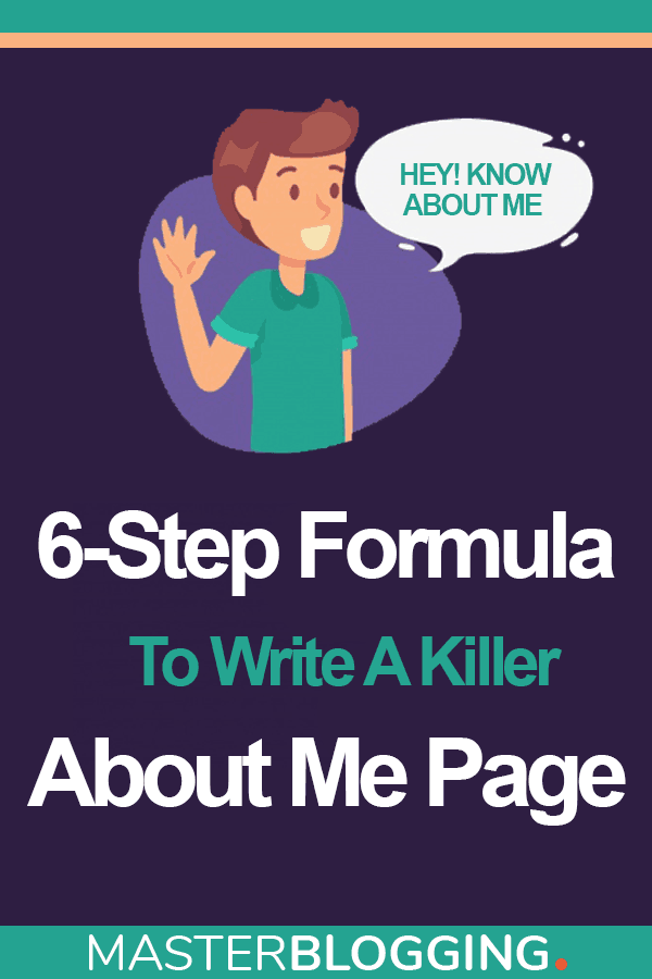 How To Write About Me Page Pinterest