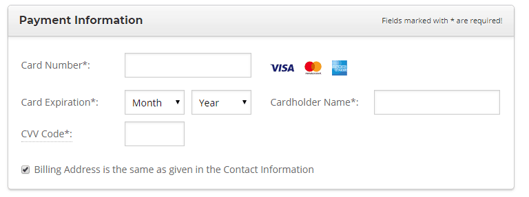 Siteground payment information