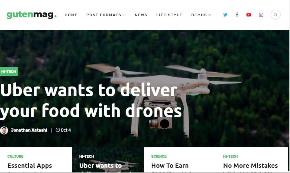 Gutenmag Tech Blog WordPress Theme