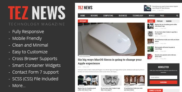 TezNews WordPress Theme
