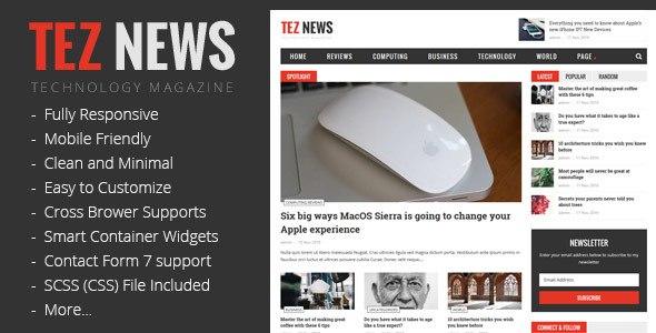TezNews WordPress Theme