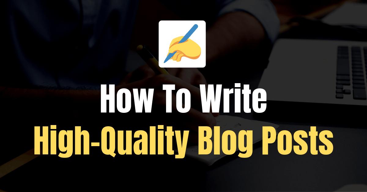 Write Quality Content