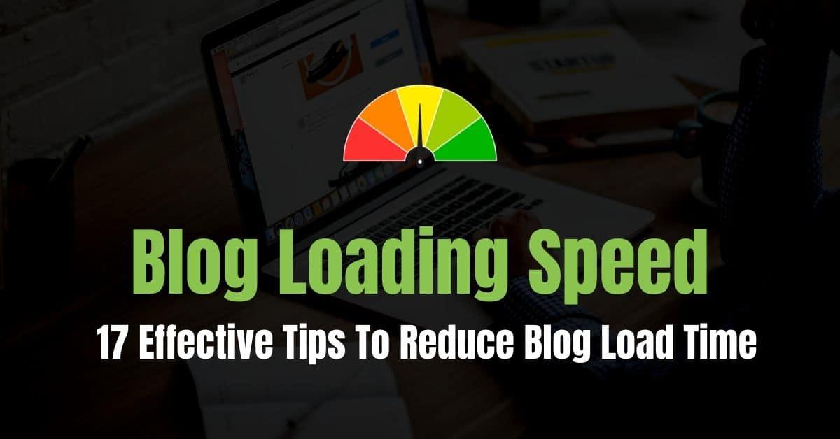Reduce Blog Load Time