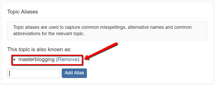 masterblogging alias