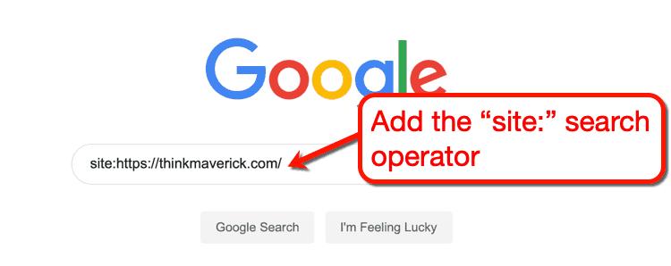 Google Site Search Operator