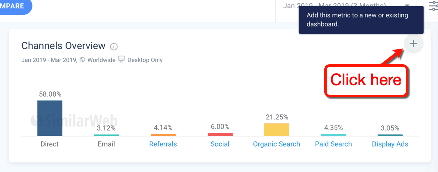 SimilarWeb Add New Metric