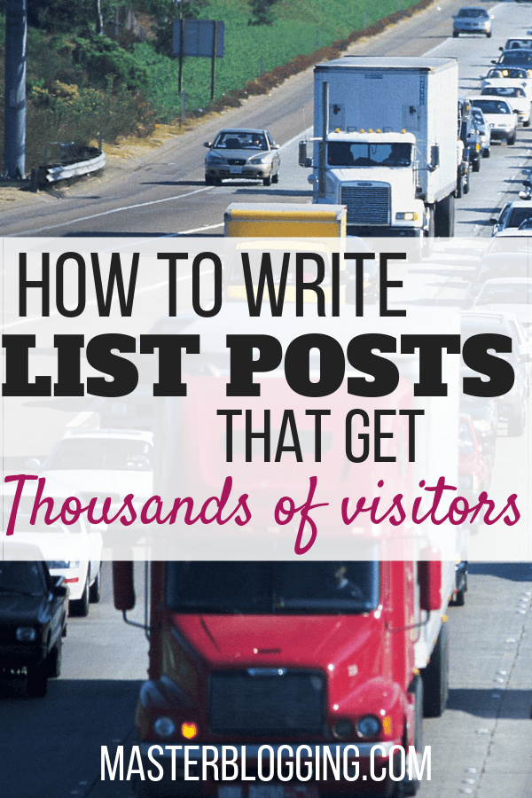 how to write list posts