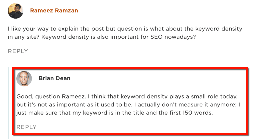 Brian Dean Doesn't Care About Keyword Density