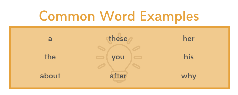 Common Words Examples