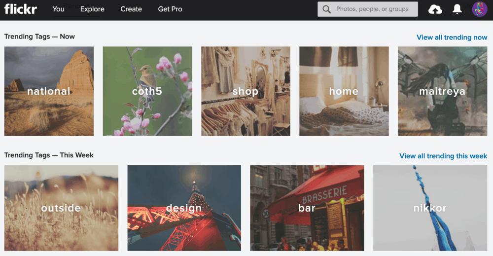 Flickr Explore Page