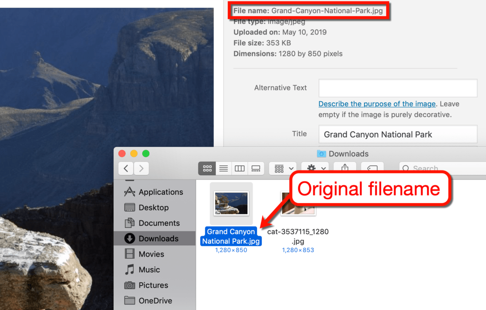 Filename Changes Once Uploaded to WordPress