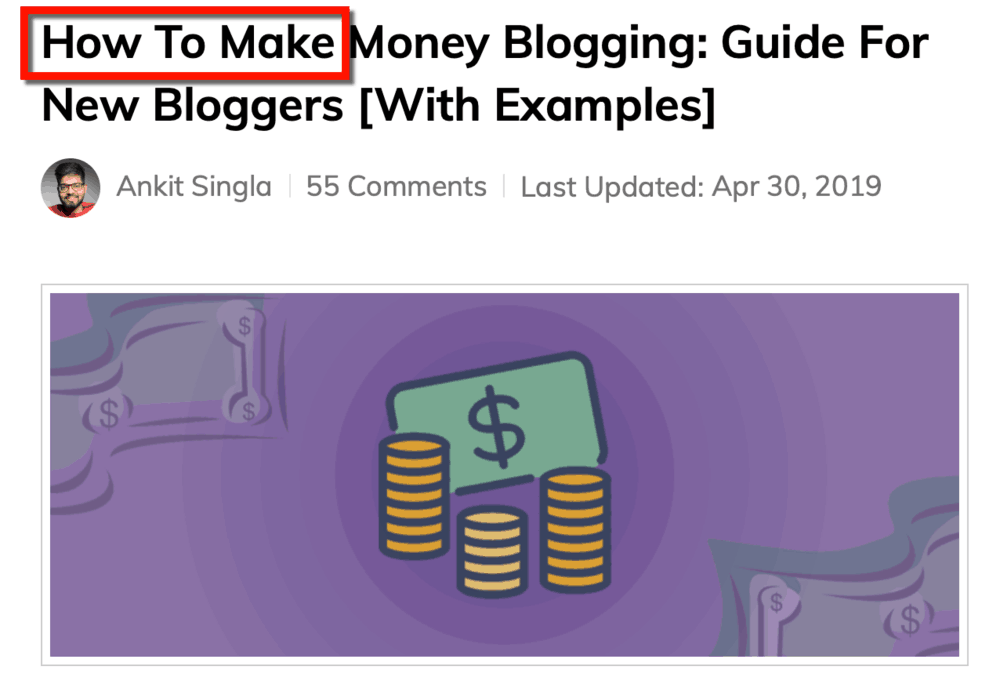 How to Make Money Blogging Headline