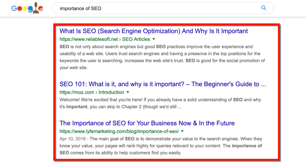 Importance of SEO Results