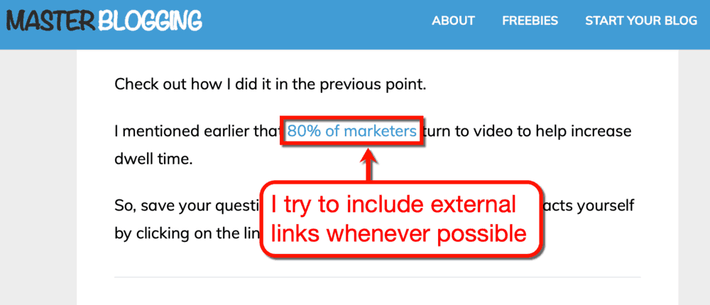 Master Blogging External Links
