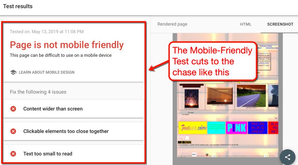 Dünyanın En Kötü Web Sitesinde Mobil Dostu Test
