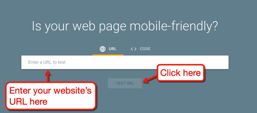 Mobil Dostu Test Ana Sayfası