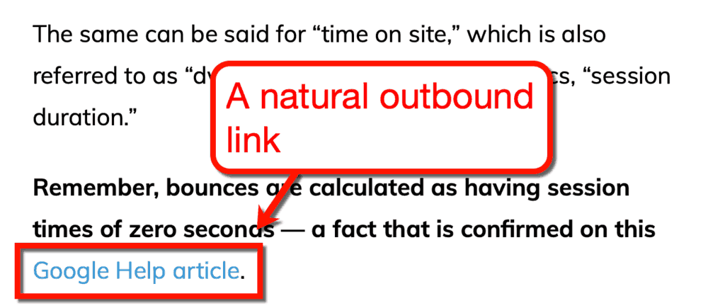A Natural Outbound Link