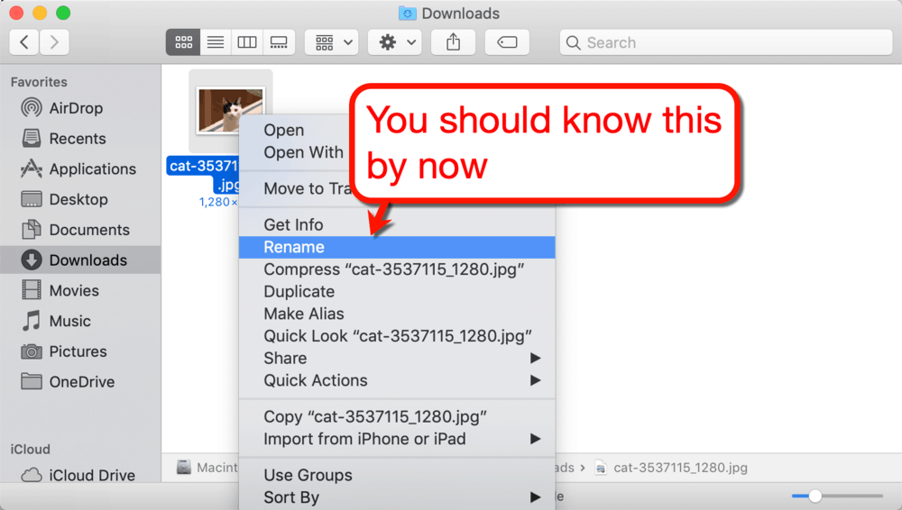 Renaming Images in Mac