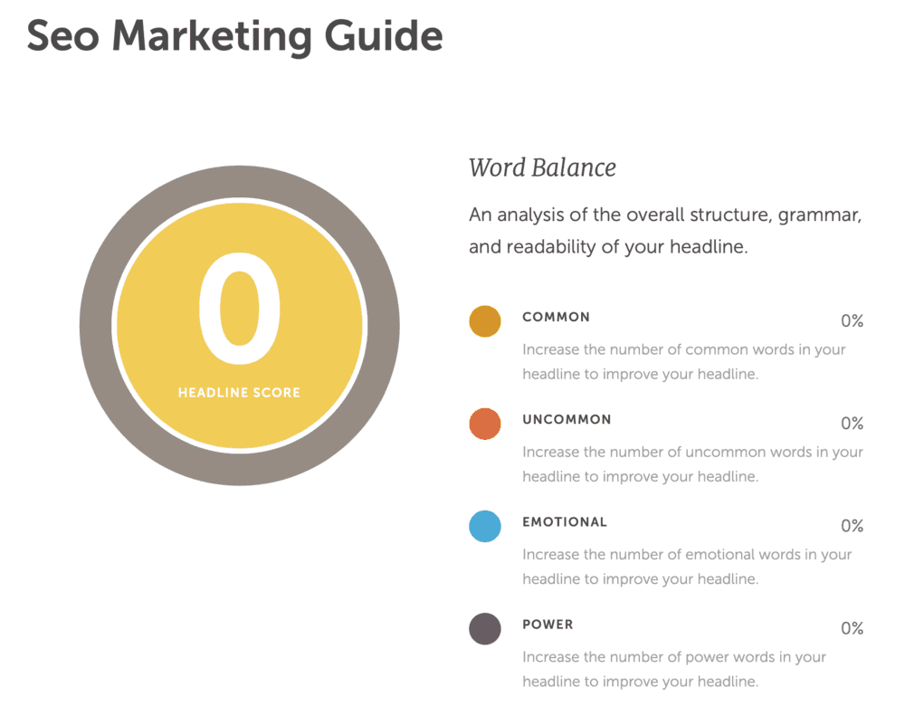 SEO Marketing Guide Headline