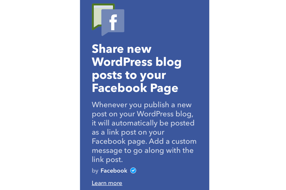 Share New WordPress Blog Posts to Your Facebook Page