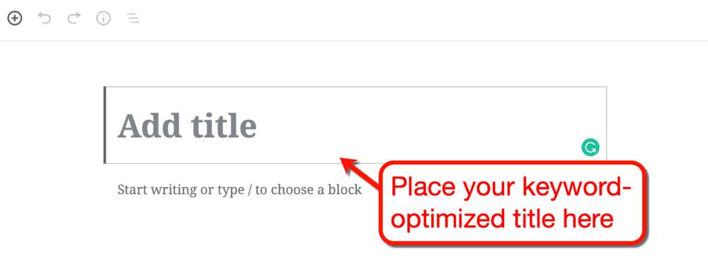 WordPress Post'a Başlık Ekleme