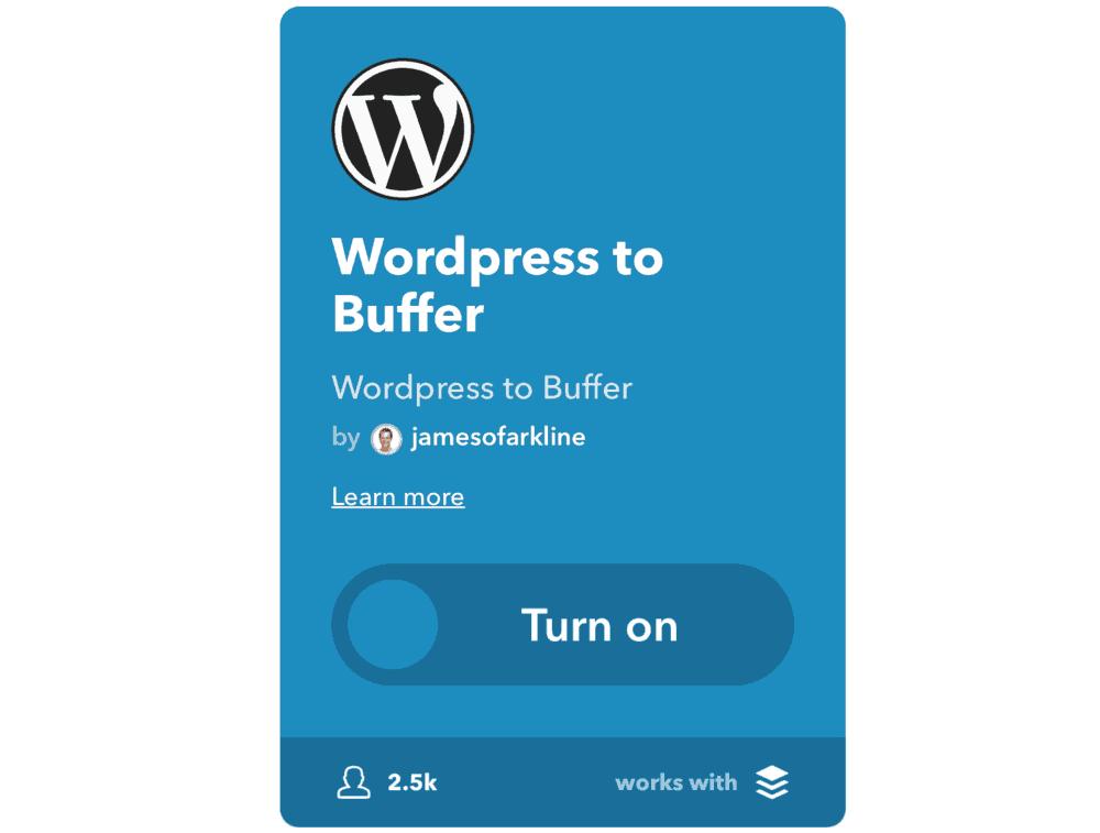 WordPress to Buffer Applet