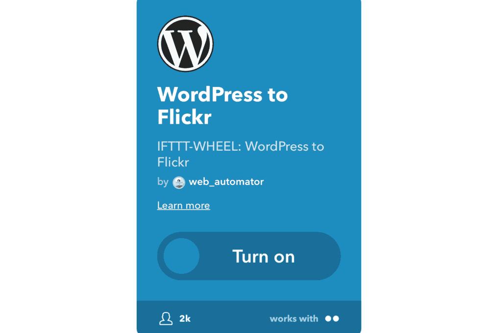 WordPress to Flickr Applet