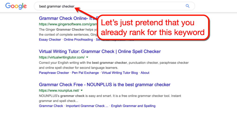 Best Grammar Checker Google SERP