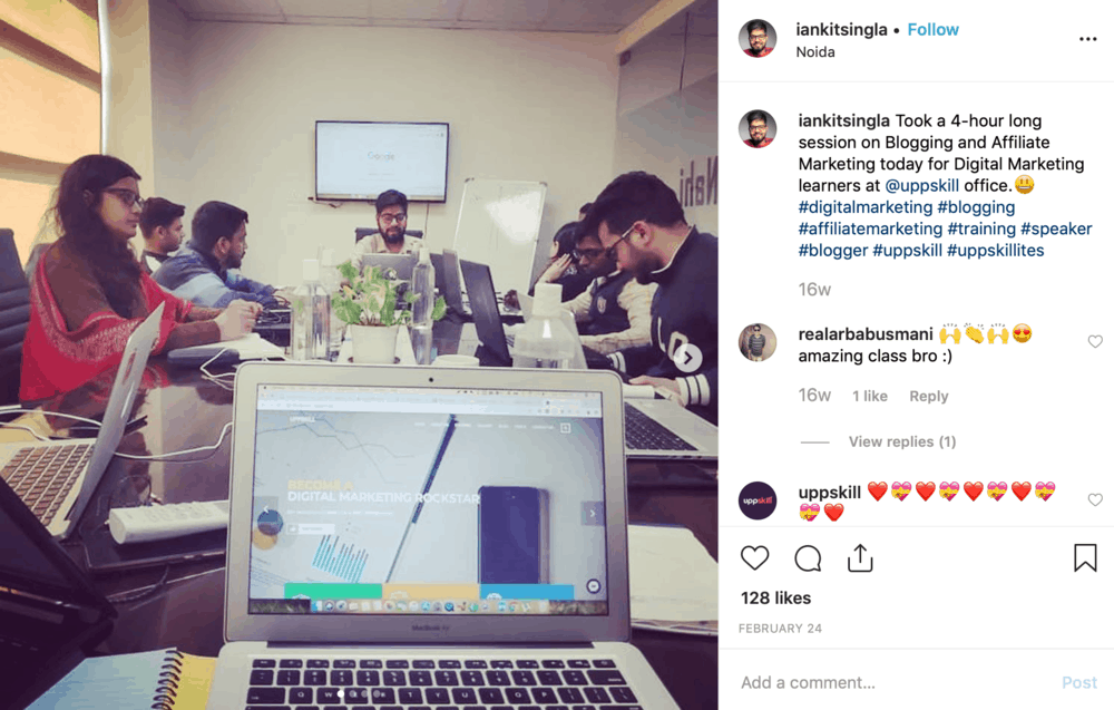 MasterBlogging Instagram Post