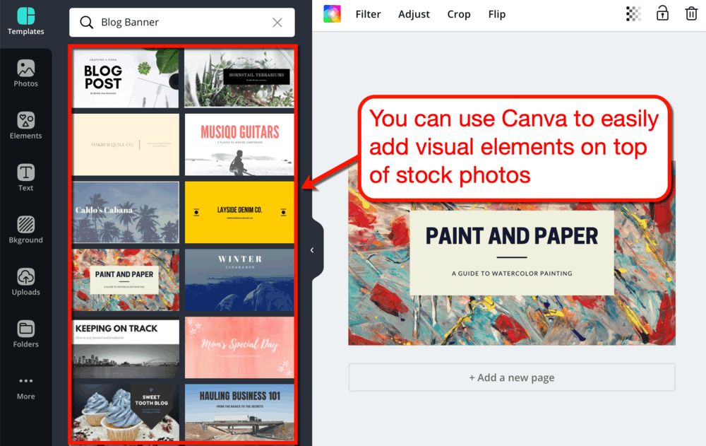 Modifying Stock Photos with Canva