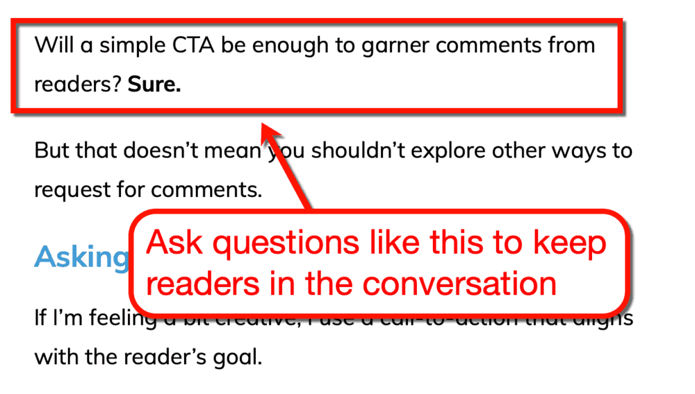 Inline Questions all over my content