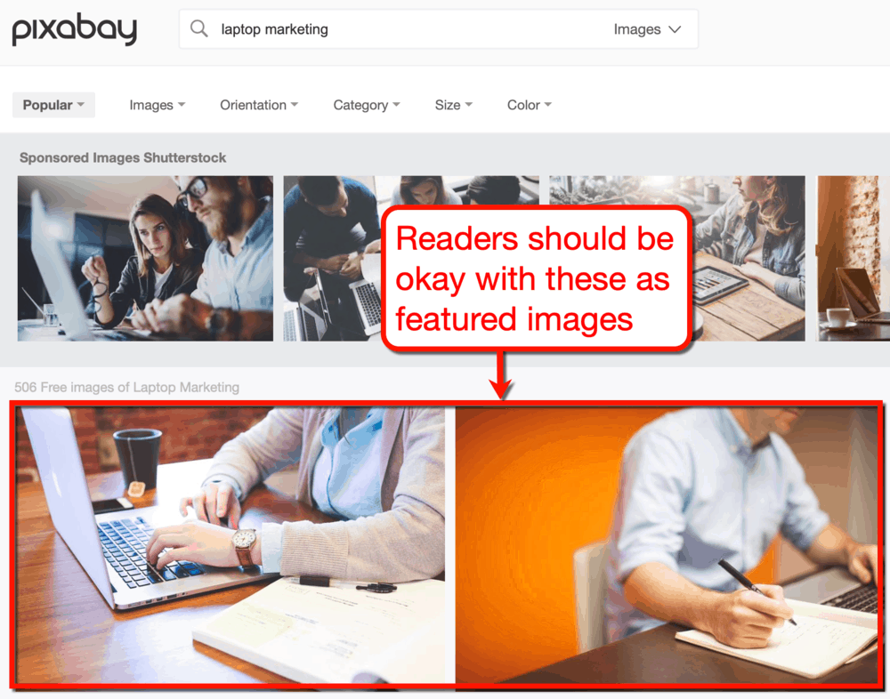 Pixabay for blog featured images