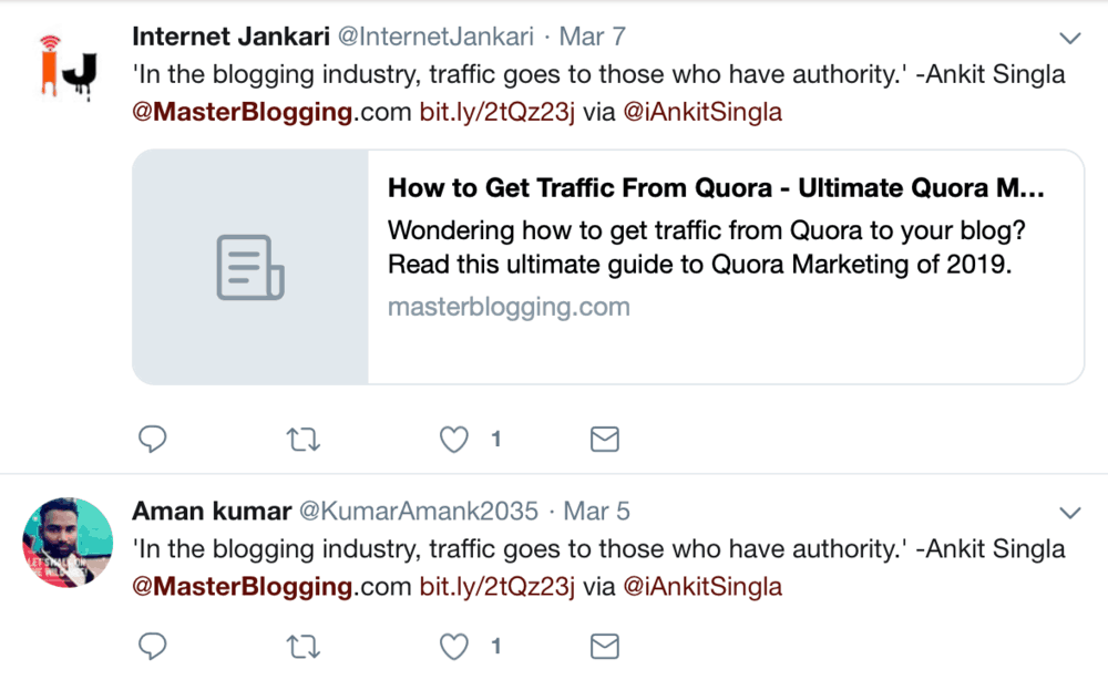 Looking for Tweets about Master Blogging