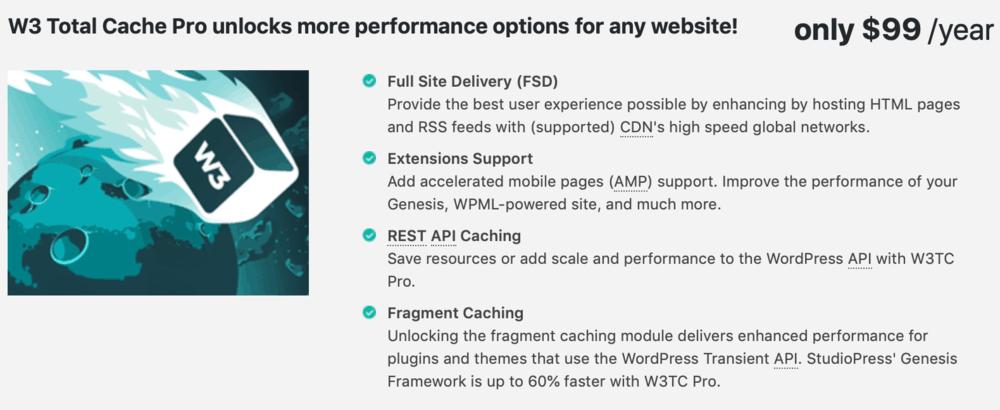 Benefits of W3 Total Cache Pro