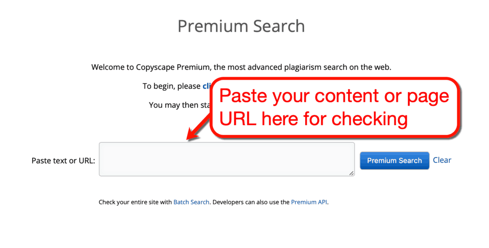 Copyscape Premium Search