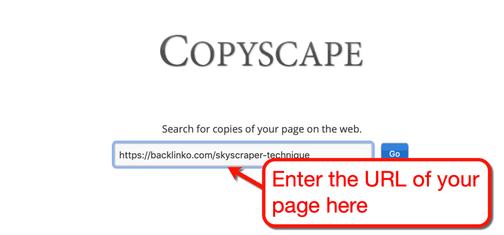Copyscape Free Web Interface