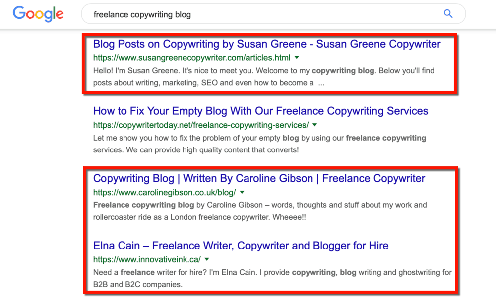 Freelance Copywriting Blogs