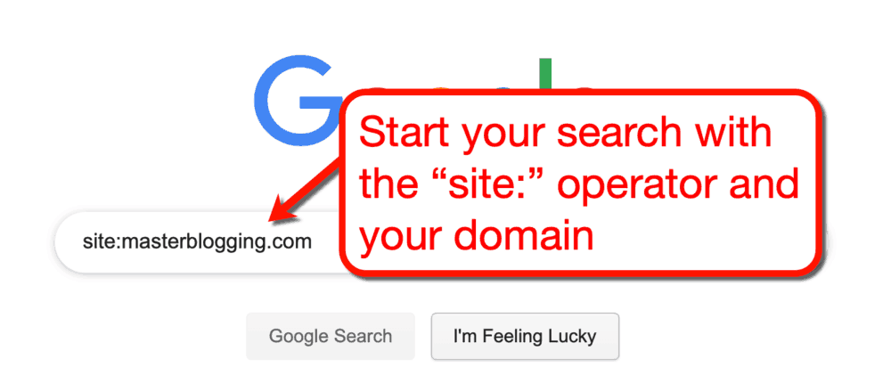 Google SERP with Site Operator