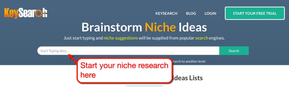 keysearch niche generator tool