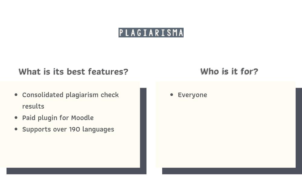 Plagiarisma Recommendations