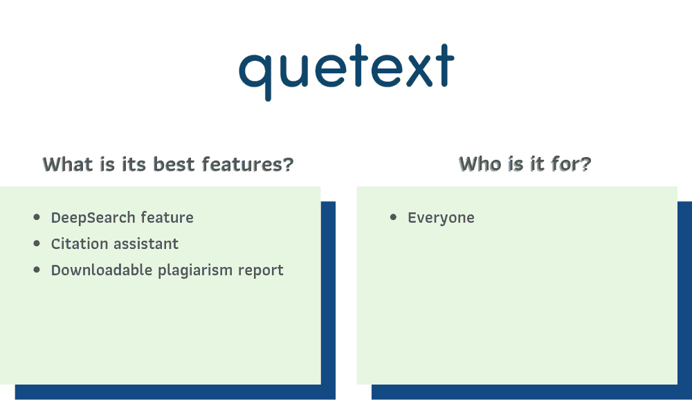 Quetext Recommendations