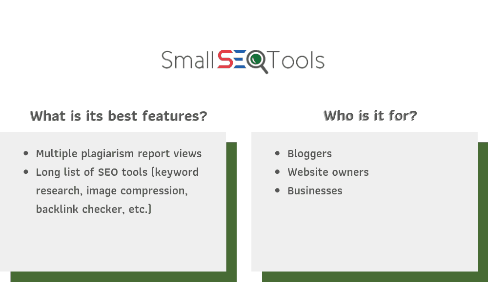 SmallSEOTools Recommendations
