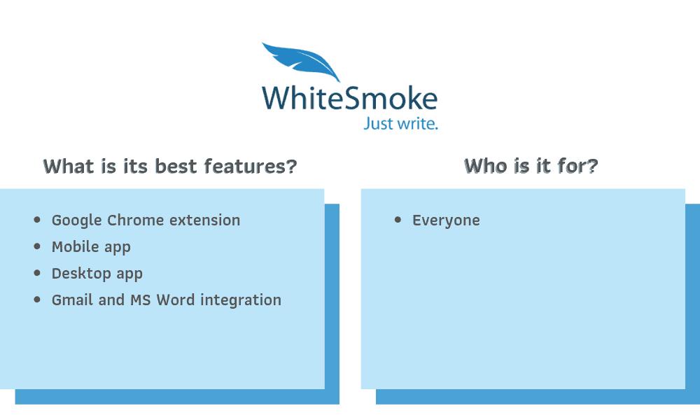 WhiteSmoke Recommendations