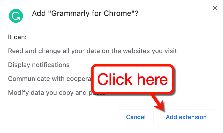 Add Grammarly for Chrome
