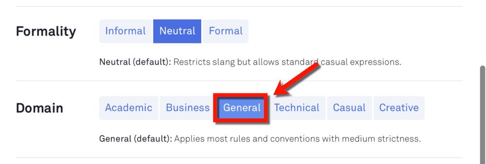 General Domain Goal